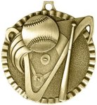 2' Baseball Color Star Medal Awards
