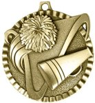 2 Cheerleading Color Star Medals