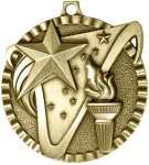 2' Victory Star and Torch Oval Medal Awards