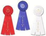 Classic Three Streamer  Rosette Award Ribbons