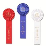 Classic Single Streamer Rosette Award Ribbons