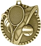 2 Tennis Tri-Colored Medal Awards