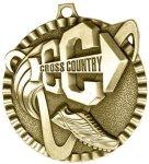 2 Cross Country Tri-Colored Medal Awards