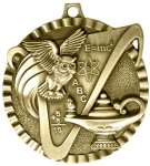 2 Lamp of Knowledge USA Sport Medals